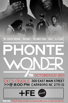 Phonte & 9th Wonder at Cats Cradle, Carrboro NC | Oct 23, 2011