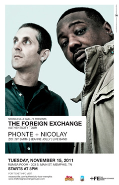 The Foreign Exchange's Authenticity Tour at Rumba Room, Memphis TN | Nov 15, 2011