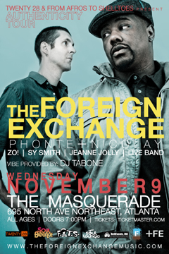 The Foreign Exchange's Authenticity Tour at Masquerade, Atlanta GA | Nov 9, 2011