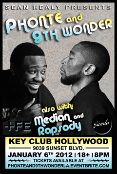 Phonte & 9th Wonder at Key Club, Los Angeles CA | Jan 6, 2012